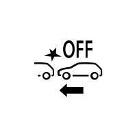 (Beroende på bil) Visar fel på aktiv panikbromsning eller att funktionen inte är tillgänglig