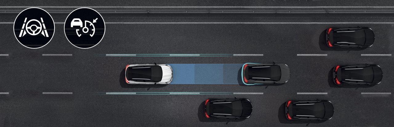 Assistans vid motorvägskörning och trafikstockning